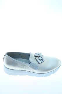 Slippers Silver Leather - 181