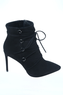 Anlkle boots Black Leather - ANNA F.