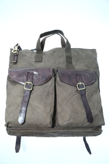 Backpacks military Leather - CAMPOMAGGI