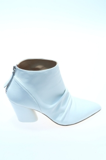 Ankle boots White Leather - HALMANERA