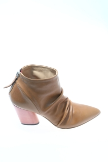 Ankle boots Caramel Leather - HALMANERA