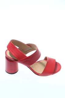 Sandals Red Leather - HALMANERA
