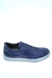 Sneakers Blue Leather - J.WILTON