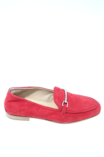 Loafers Red Leather - LEMARÈ