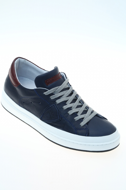 leather blue sneaker philippe model. Black Bedroom Furniture Sets. Home Design Ideas