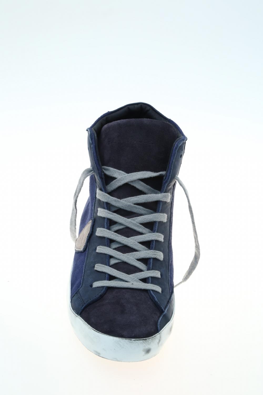 suede blue sneaker philippe model. Black Bedroom Furniture Sets. Home Design Ideas