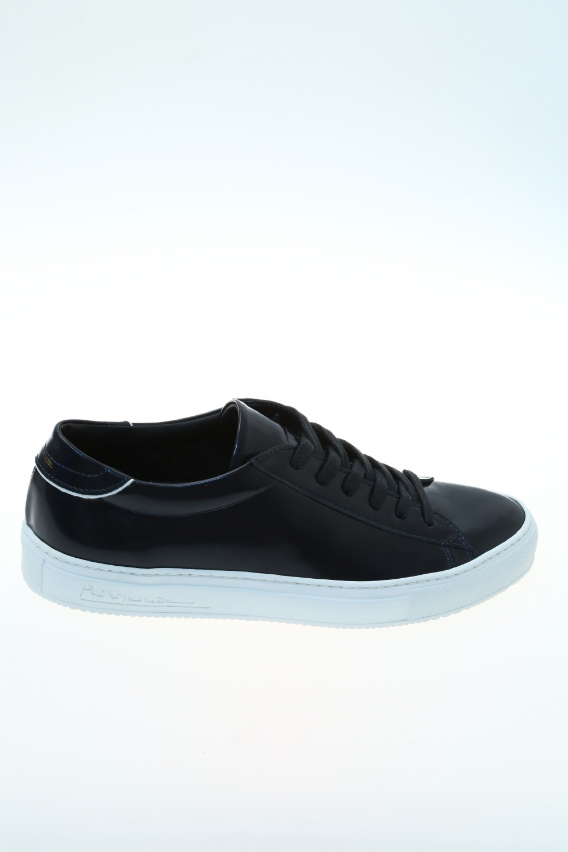 leather blue brushed sneaker philippe model. Black Bedroom Furniture Sets. Home Design Ideas