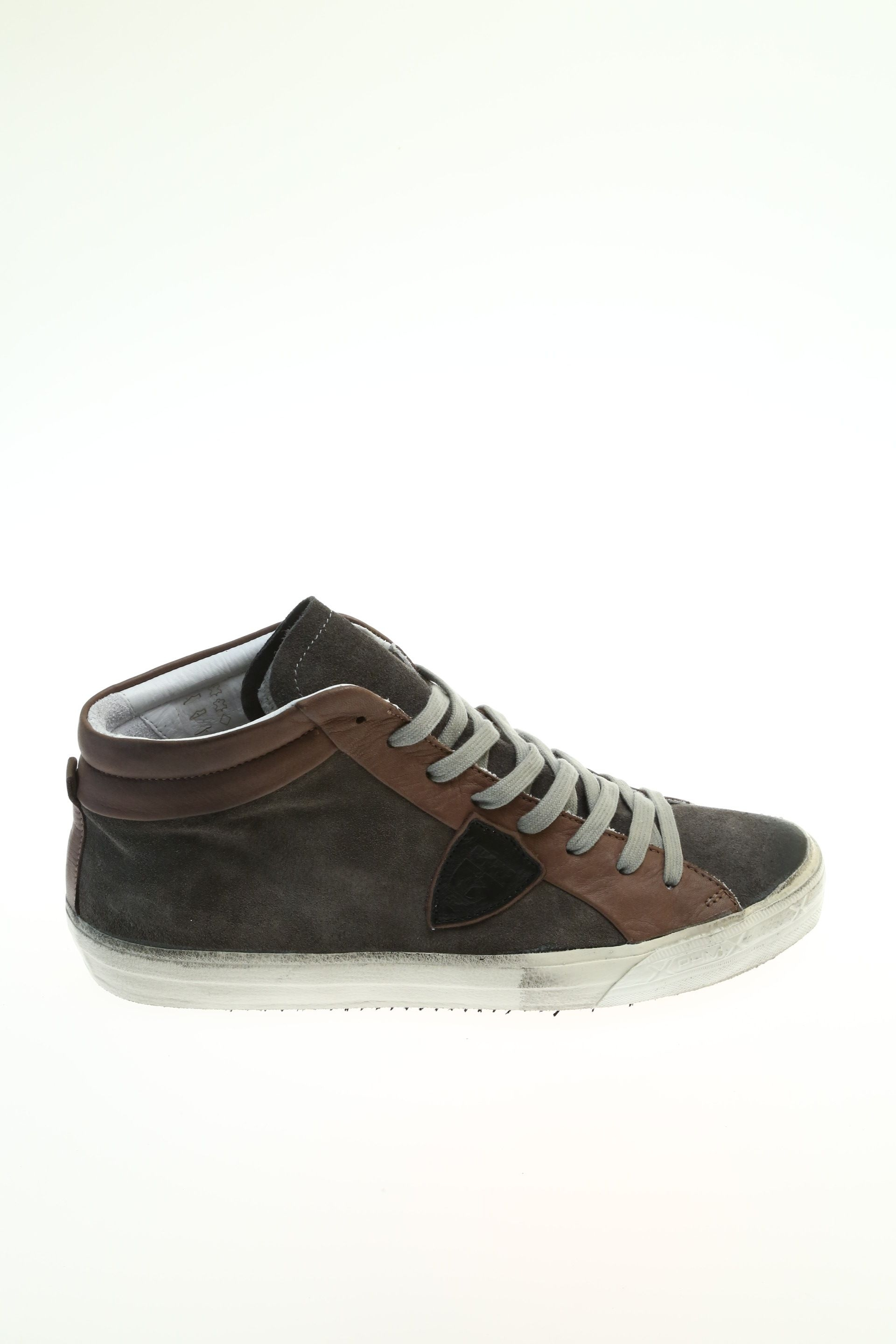 suede dove grey sneaker philippe model. Black Bedroom Furniture Sets. Home Design Ideas