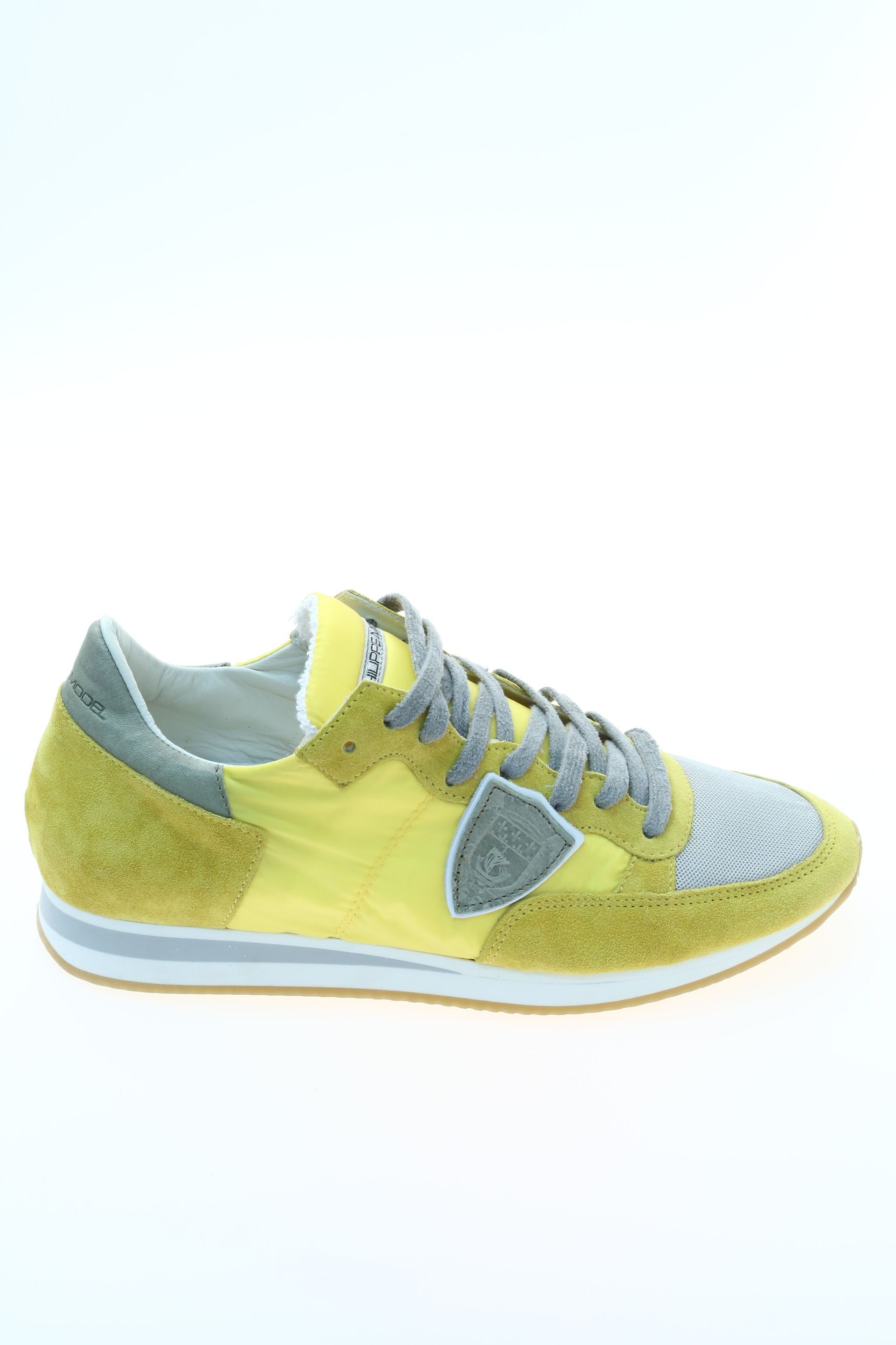 suede yellow sneaker philippe model. Black Bedroom Furniture Sets. Home Design Ideas