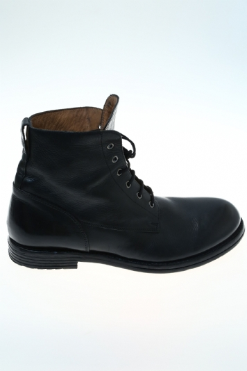 leather black ankle moma