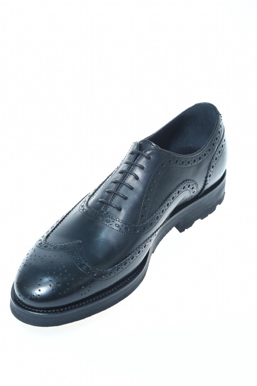 Leather Black Classic lace up shoe J.WILTON