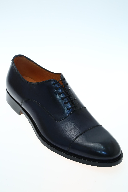 Leather Blue Classic lace up shoe J.WILTON