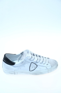 Sneakers White and black Leather - PHILIPPE MODEL