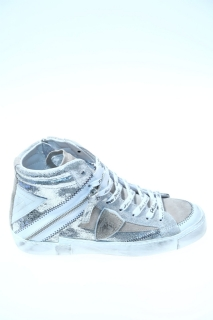 Sneakers Silver Leather - PHILIPPE MODEL