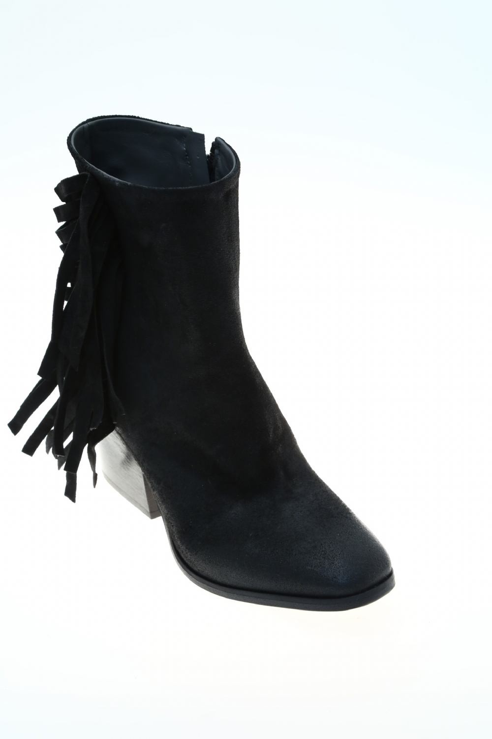 leather black suede ankle boot fiorifrancesi